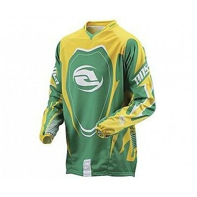 Maglia Moto Cross Quad Answer Alpha Giallo Verde Enduro Atv Fuoristrada