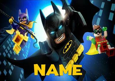 LEGO BATMAN b PERSONALISED PLACE MAT DINNER MAT TABLE MAT