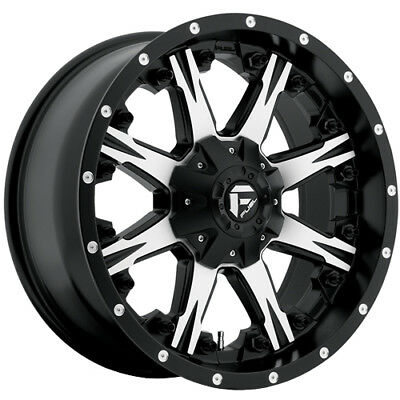 20x10 Black Machined Fuel Nutz 8x170 -24 Rims Open Country AT II 35