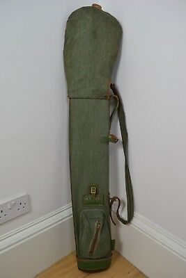 VINTAGE 1930's BRYANT GREEN CANVAS GOLF BAG WITH STRAP ENGLISH MADE