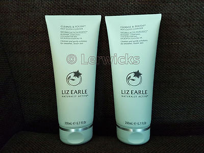 2 x LIZ EARLE 200ml CLEANSE AND POLISH HOT CLOTH CLEANSER - DOUBLE DEAL (400ml)