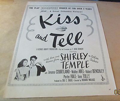 Movie Ad---KISS AND TELL---<1945>---SHIRLEY TEMPLE