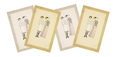 Edwardian paper dolls embellishments toppers card making papercraft 2 x A4 pages