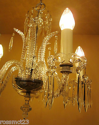 Vintage Lighting antique 1930s Art Deco crystal chandelier   High Quality
