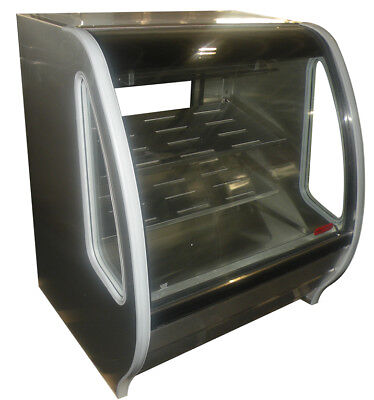 Stainless Steel Curved Glass Deli Bakery Display Case Refrigerated  Led Lighting