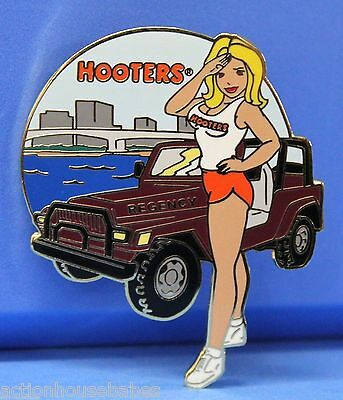Hooters Girl Saulting Regency Jeep Ocean Bridge City Florida Fl Lapel Pin