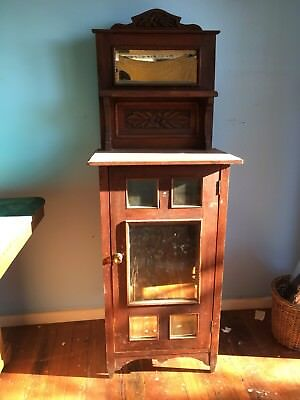 Antique Mirrored Hall / Bedroom Dresser Kauri Pine Circa 1890