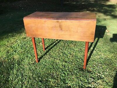 Antique Vermont Drop Leaf Table ca. 1830 Small Size 36 x36 All Original