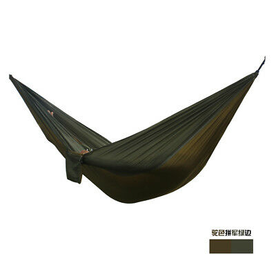 12 Color Portable Parachute Hammock Camping Survival Travel Double Person