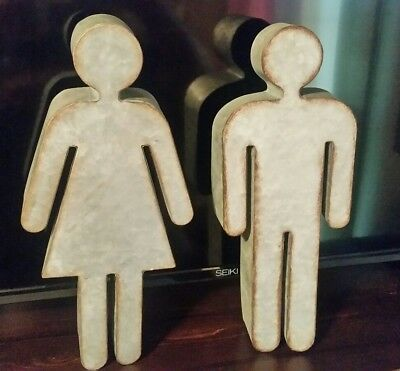 Bathroom Restroom Door Male Female Mr and Mrs Men's Women's Wedding Metal Sign