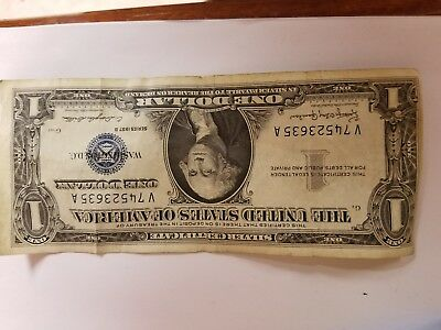 1957 A $1 Dollar Bill Old Us Paper Money Currency Blue Seal Silver Certificate