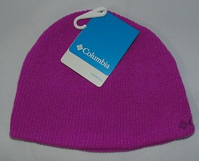 Columbia Big Girls Youth One Size Whirlibird Watch Cap Winter Hat Foxglove Pink