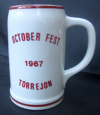 October Fest 1967 Torrejon Porcelain/Bone China Beer Mug Madrid SPAIN