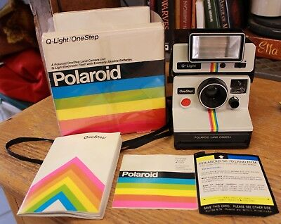 Polaroid Q-Light One Step Land Camera and Electronic Flash Untested