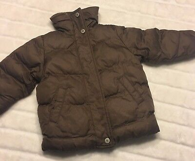 Old Navy Infant Baby Girls Size 6 12 Months Brown Puffy Warm Winter Coat