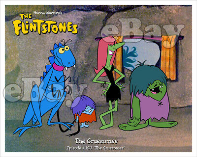 Rare! FLINTSTONES Cartoon Color Photo HANNA BARBERA Studios THE GRUESOMES