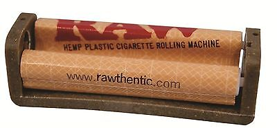 RAW AUTHENTIC COATED REGULAR 70mm CIGARETTE ROLLING HAND ROLLER MACHINE