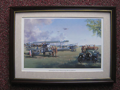 Frank Wootton Aircraft print 'April Morning France 1918' FRAMED