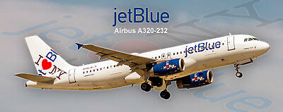 "JetBlue Airways ""I Love NY"" Airbus A320 Photo Magnet (PMT1652)"
