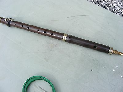 Antique  Flute  Hollings London Improved  Wood