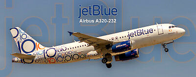 "JetBlue Airways ""10th Anniversary"" Airbus A320-232 Photo Magnet (PMT1650)"