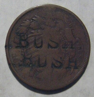 "1868 Two Cent ""C.A. Bush"" Counterstamped Take a Look"