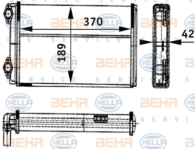 Heat Exchanger Interior Heating - Hella 8fh 351 312-421