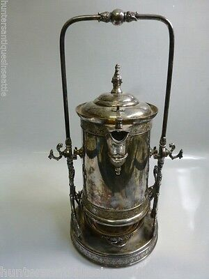1880's Victorian James W. Tufts Tipping Cold Water / Coffee Pot