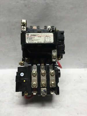 GE Magnetic Starter CR306C1  NEMA size 1  Contactor 600vac Max Amps 27