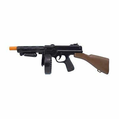Tommy Gun 20s Gangster Plastic Gun Toy Costume Weapon With Sound 1920s