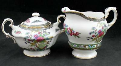 Paragon TREE OF KASHMIR SCALLOPED Creamer & Sugar w/Lid Bone China A+ CONDITION
