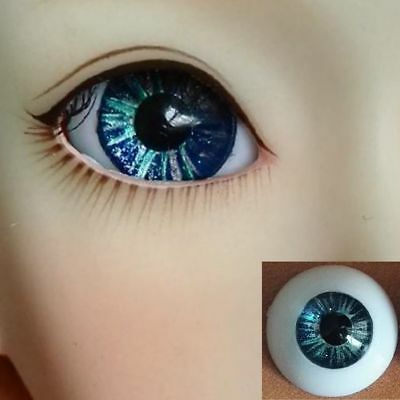 #ST01 Blue Hand painted BJD Eyes - 14mm 16 18 20 22 MSD SD13/10 Doll Dollfie