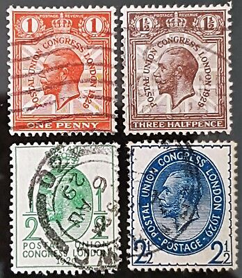 Great Britain 1929 Sg # 434 to Sg # 437 UPU Issue Used Stamps Set Collection #2