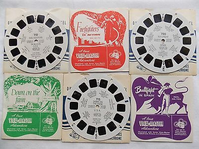 View Master  3 Reels  710 - 715 - 720   Fire Fighters  Farm  1953