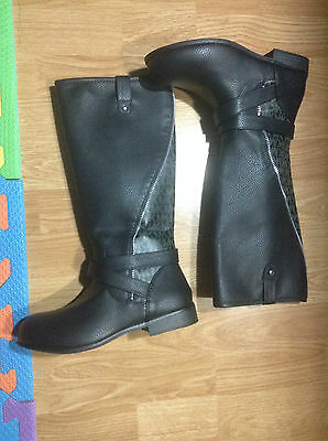 Michael Kors Size 4 EMMA CLARE Black Boots New Kids Girls Shoes