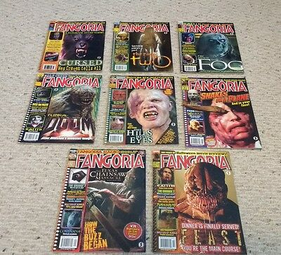 Fangoria Horror Magazine Eight Back Issue Lot #241 242 247 248 251 255 256 & 257