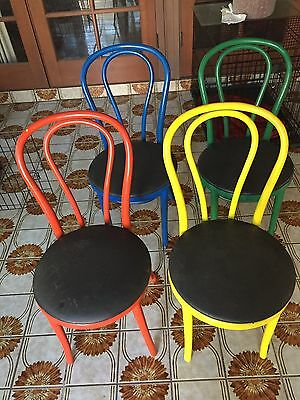 4 Very Old Bent Wood Chairs