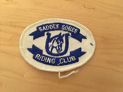 Horse Club Patch, Saddle Sores Riding Club New Old Stock, 1970's