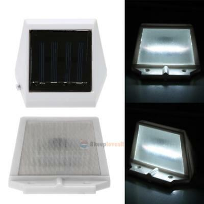 Outdoor 4 LED Solar Powered Stairs Fence Garden Security Mount Lamp Waterproof