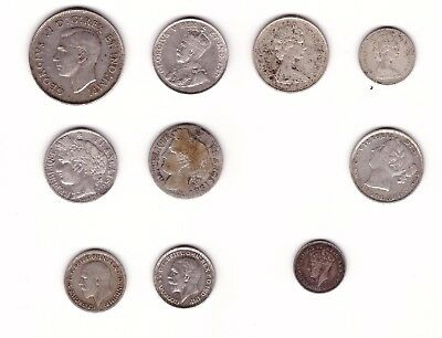 Lot Assorted Foreign Silver Coins