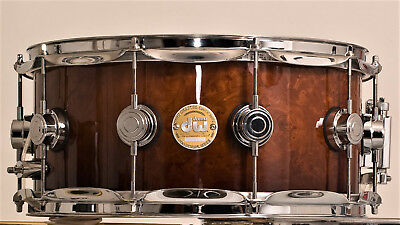 DW Drums Collectors Exotic Vavona Redwood Burl Snare 14 x 6.5; RARE and MINT