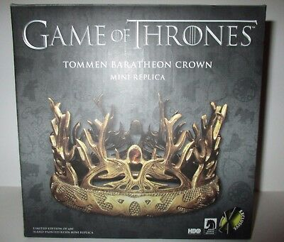 Game of Thrones Tommen Baratheon Crown Mini Replica Limited Edition 600