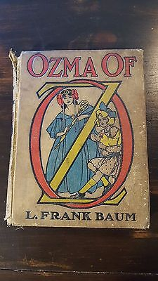 Ozma of Oz by L. Frank Baum (1907 1st Edition, Hardcover, Illustrated)