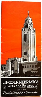 1934 Lincoln, Nebraska Illustrated Promotional Brochure