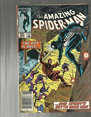 Amazing Spider-Man 265.  1ST SILVER SABLE !!   NEWSTAND!!    MOVIE!!