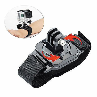 for Gopro 360 Degree Rotate Wrist Strap Arm Mount Hero 5 4 3+ Sj4000 Accessories