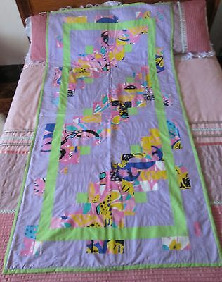 Handmade Patchwork Quilt Ken Done Print Material Sewing Fabric Pastels