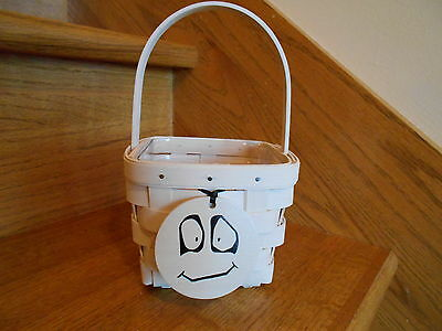 Longaberger Ghost Ghoulie Basket Set White cute 2015 Halloween *free shipping!*