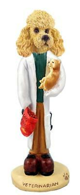 Apricot Poodle Veterinarian Collectible Resin Figurine Statue