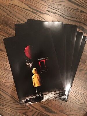 IT 2017 Promo Official Movie Poster 11x17 Pennywise Georgie Stephen King Lot 7